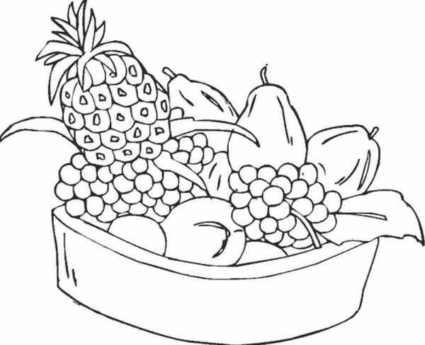 картинки фруктов и овощей для детей раскраски раскраска для