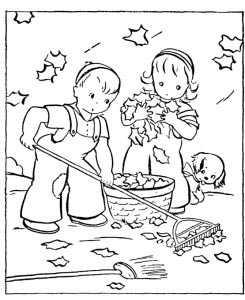 Раскраска для детей осенние листья. Осенние раскраски для ...