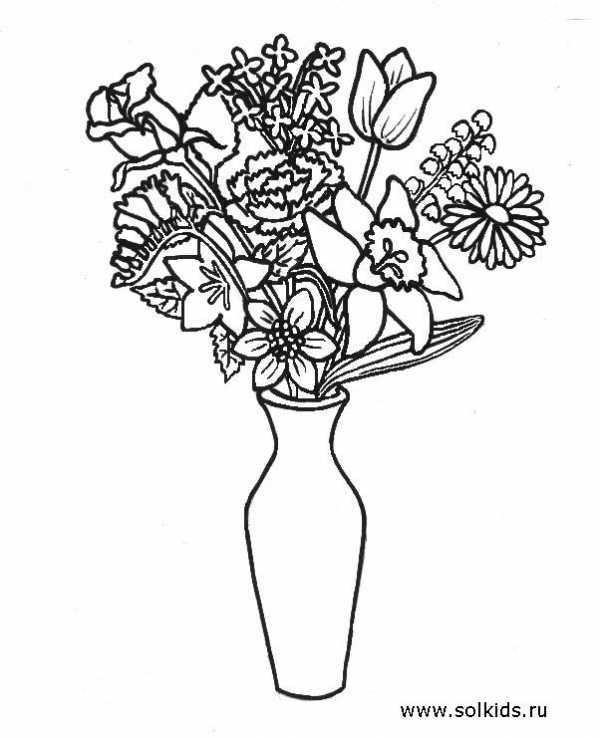 раскраски цветок картинки раскраска цветы для детей